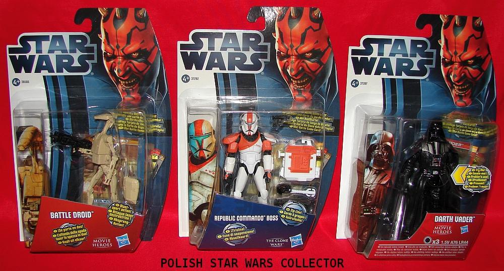 Star Wars Movie Heroeas and The Clone Wars European Action Figures
